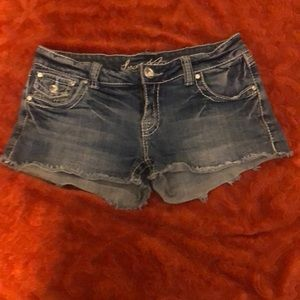Cute Love Notes Jean shorts 7/8